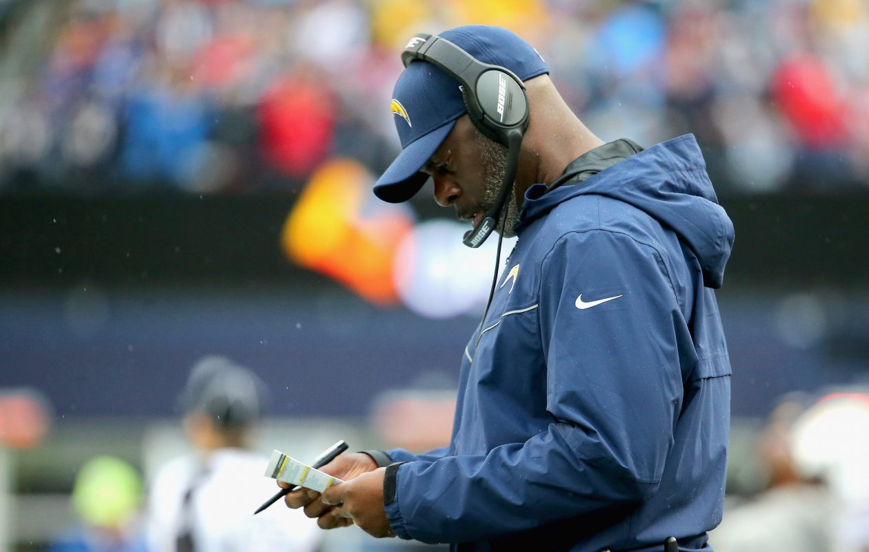 Head coach Anthony Lynn of the Los Angeles Chargers (Photo: Maddie Meyer/Getty Images)