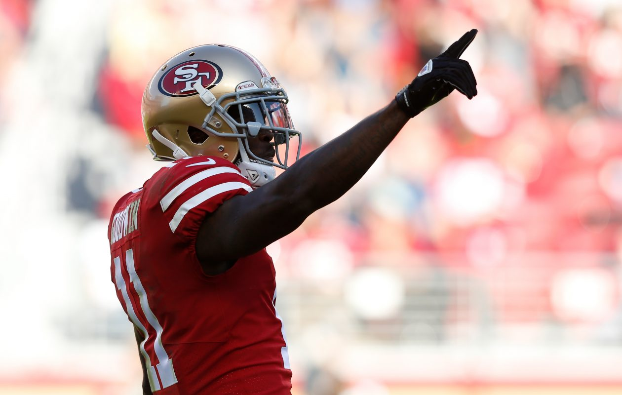 Marquise Goodwin was a receiver for the Buffalo Bills for four seasons. (Getty Images)