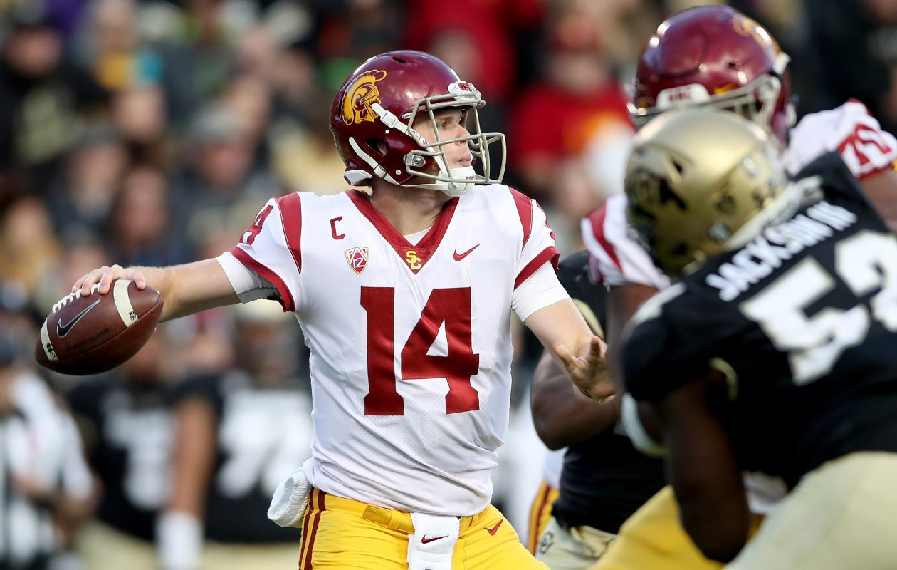 USC quarterback Sam Darnold (Photo: Matthew Stockman/Getty Images)