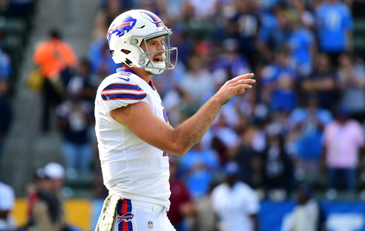 Nathan Peterman had a historically bad debut with the Buffalo Bills on Sunday. (Getty Images)