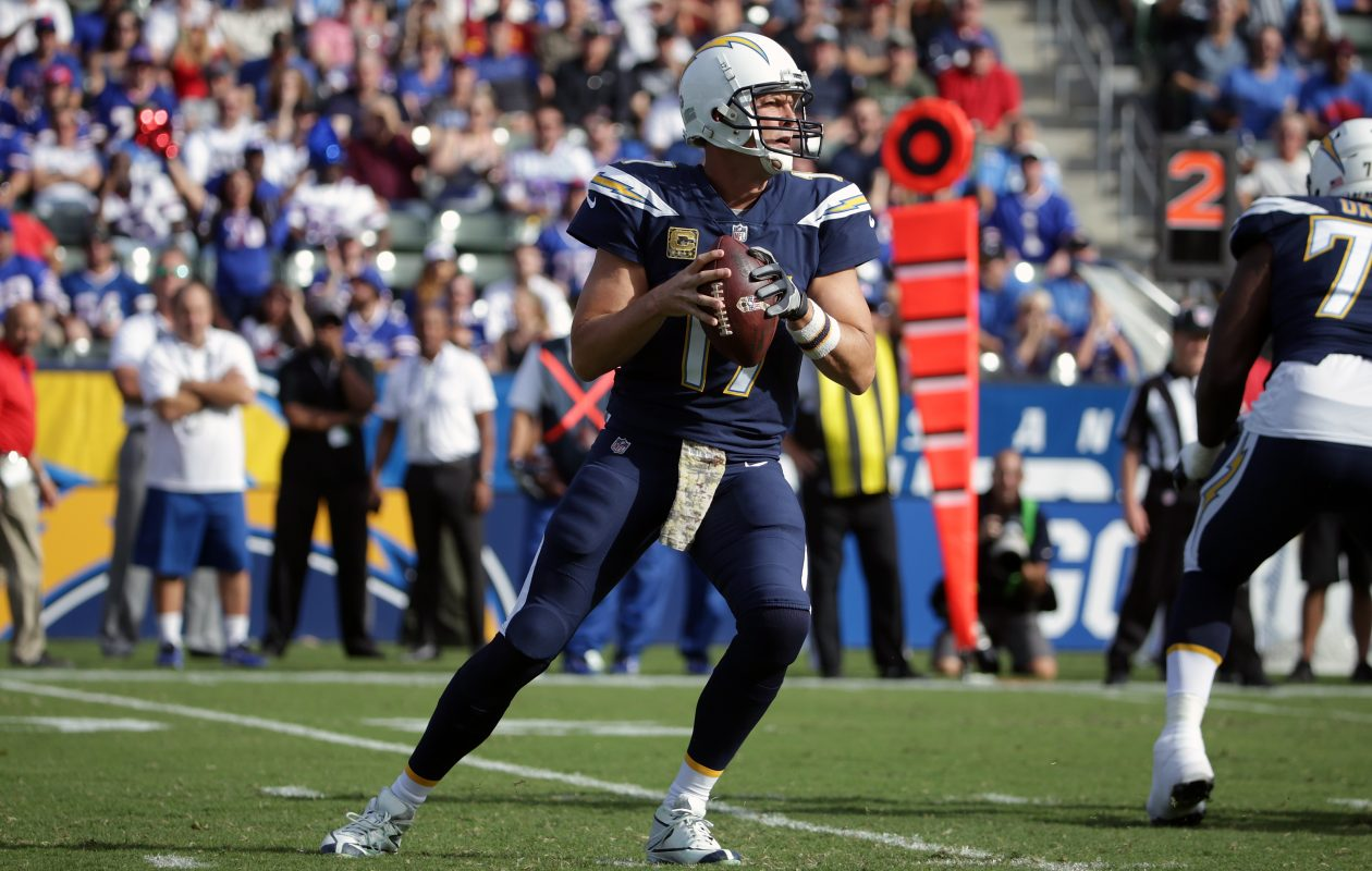 Philip Rivers had time to throw. (Getty Images)