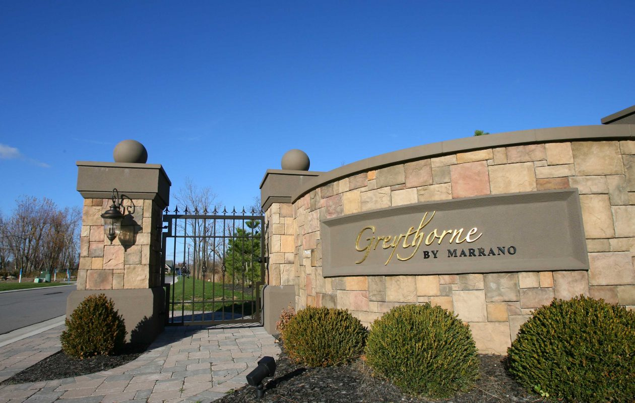 Greythorne homes by Marrano off Main Street in Amherst. EduKids wants to build a day care center near the entrance to the gated community. (News file photo)