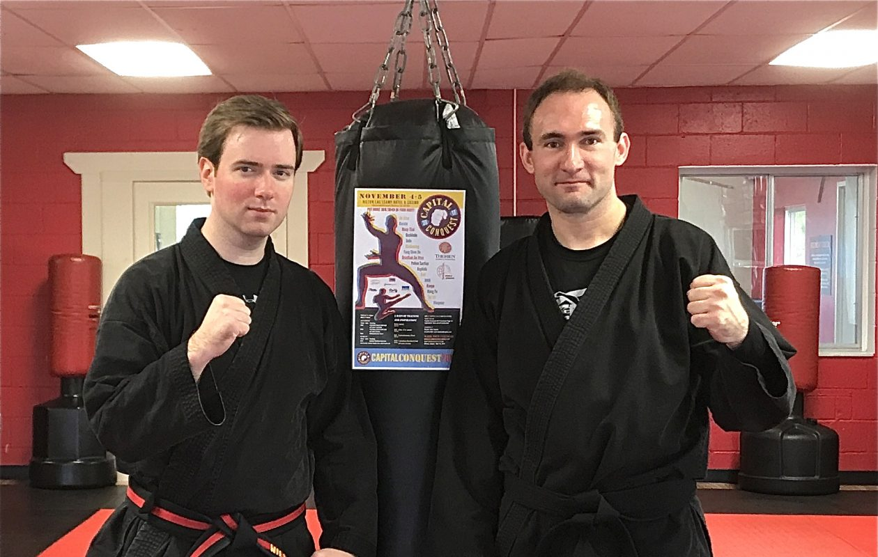 "Hamburg residents William Lorenz Jr. (left) and Jonathan Ertel will perform Saturday at ""Capital Conquest,"" the Canadian Black Belt Hall of Fame induction event."