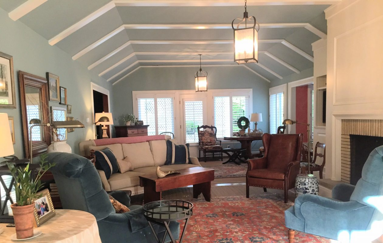 The living room of the Amherst residence. (Photo by Kate Shotwell)