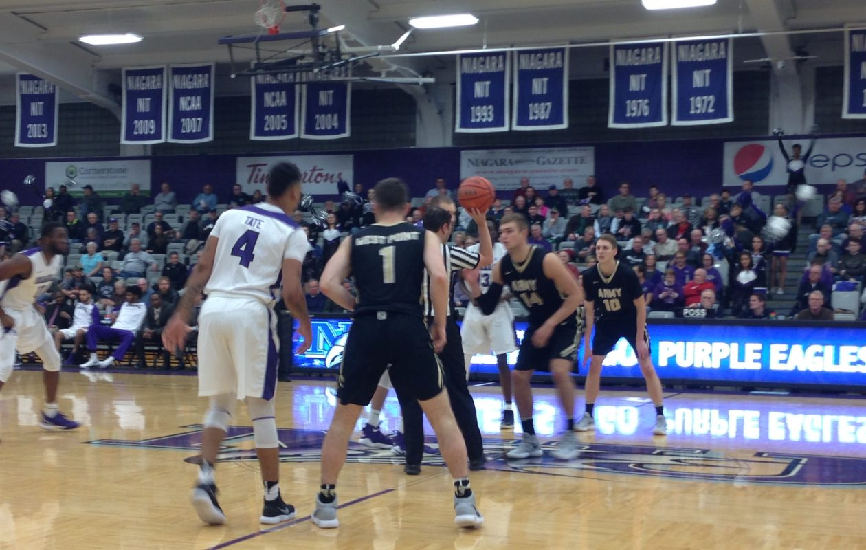 Niagara defeated Army 77-71 at the Gallagher Center Monday night. (Photo by Jack Goods/Buffalo News)