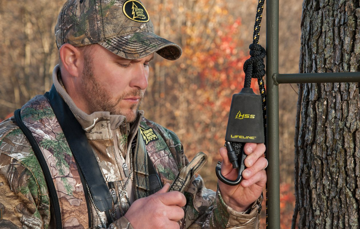 The Lifeline is something that can help protect you going up and down your treestand.