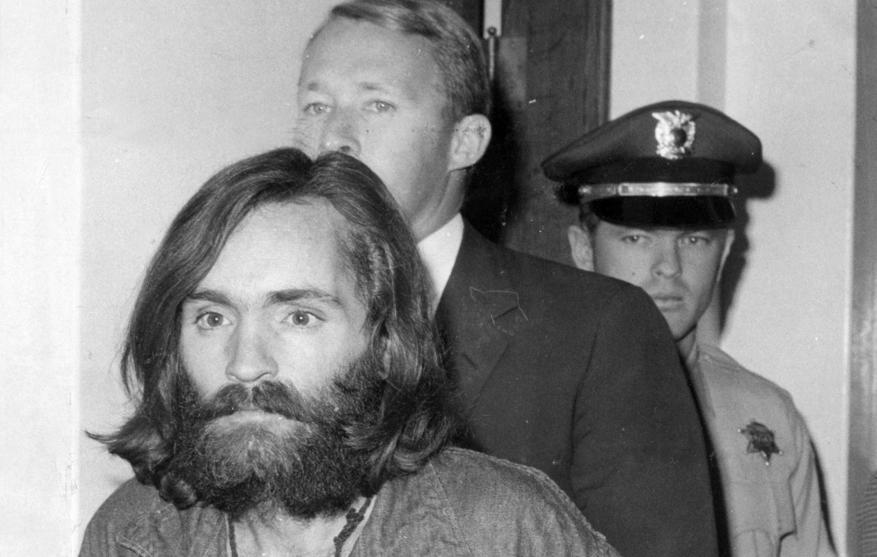 A 1969 staff file photo of Charles Manson. The convicted mass murderer died over the weekend. (Los Angeles Times/TNS)