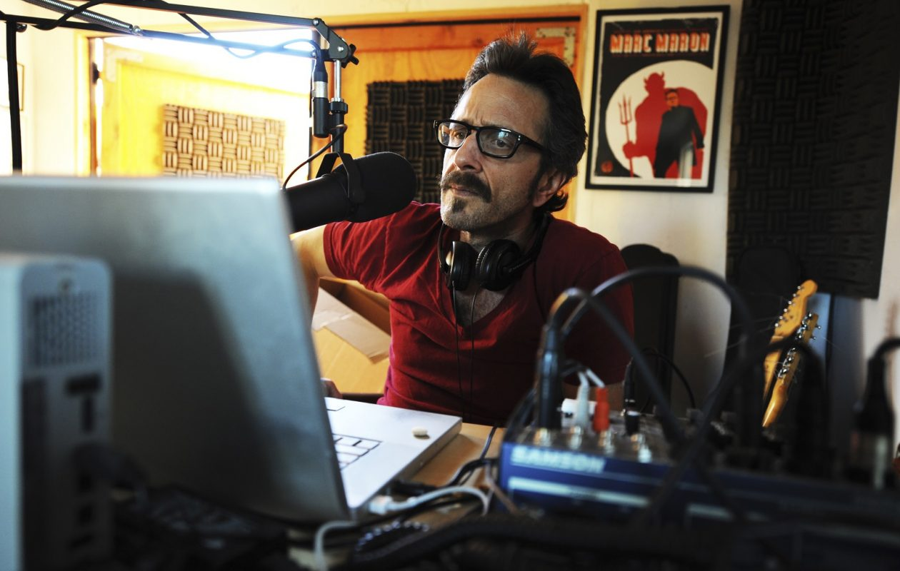 Comedian Marc Maron in 2010 in his garage in Los Angeles. (Robert Yager/the New York Times)