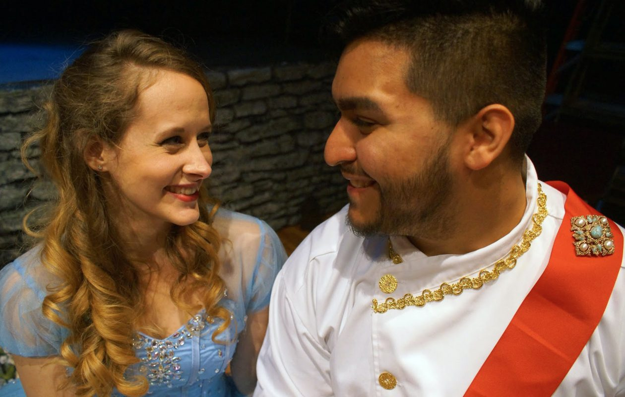 "Jamie Nablo and Alejandro Gomez are featured in the New Phoenix Theatre's production of ""Cinderella."""