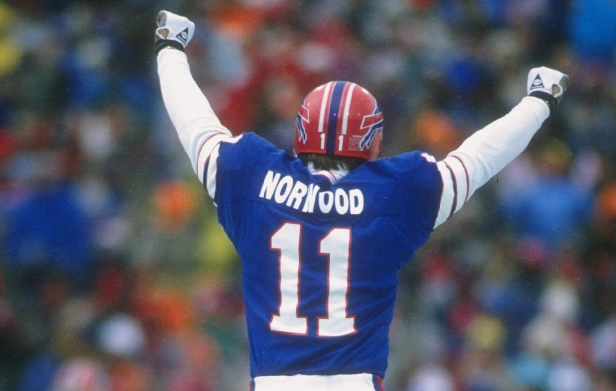 Scott Norwood kicked a 30-yard field goal in overtime to give the Bills a win over the Jets on this day in 1988. (Rick Stewart/Allsport-Getty Images)