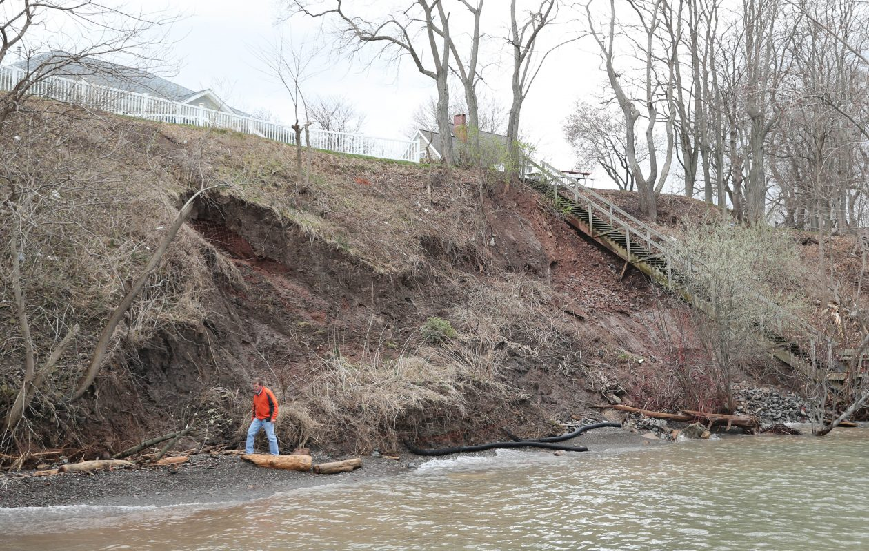 Al Weir's property along Lake Ontario in Burt suffered significant erosion during last spring's storms. (Sharon Cantillon/Buffalo News file photo)