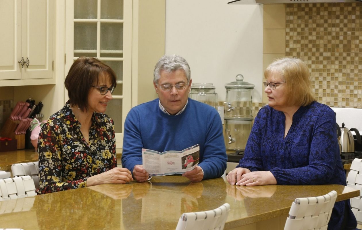 "Rob Jones, center, executive director of Breast Cancer Network of WNY, is among those involved with the planning of a free seminar this week entitled, ""Sexuality and Intimacy after Breast Cancer."" He is pictured with survivors Bev Jasinski, right, and Debbie Malarkey, left, at the nonprofit's headquarters in the Bella Moglie Building on Walden Avenue in Depew. (Robert Kirkham/News file photo)"
