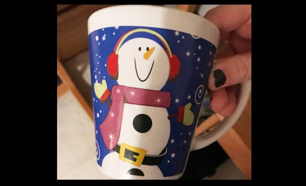 This snowman mug has massive sentimental value.
