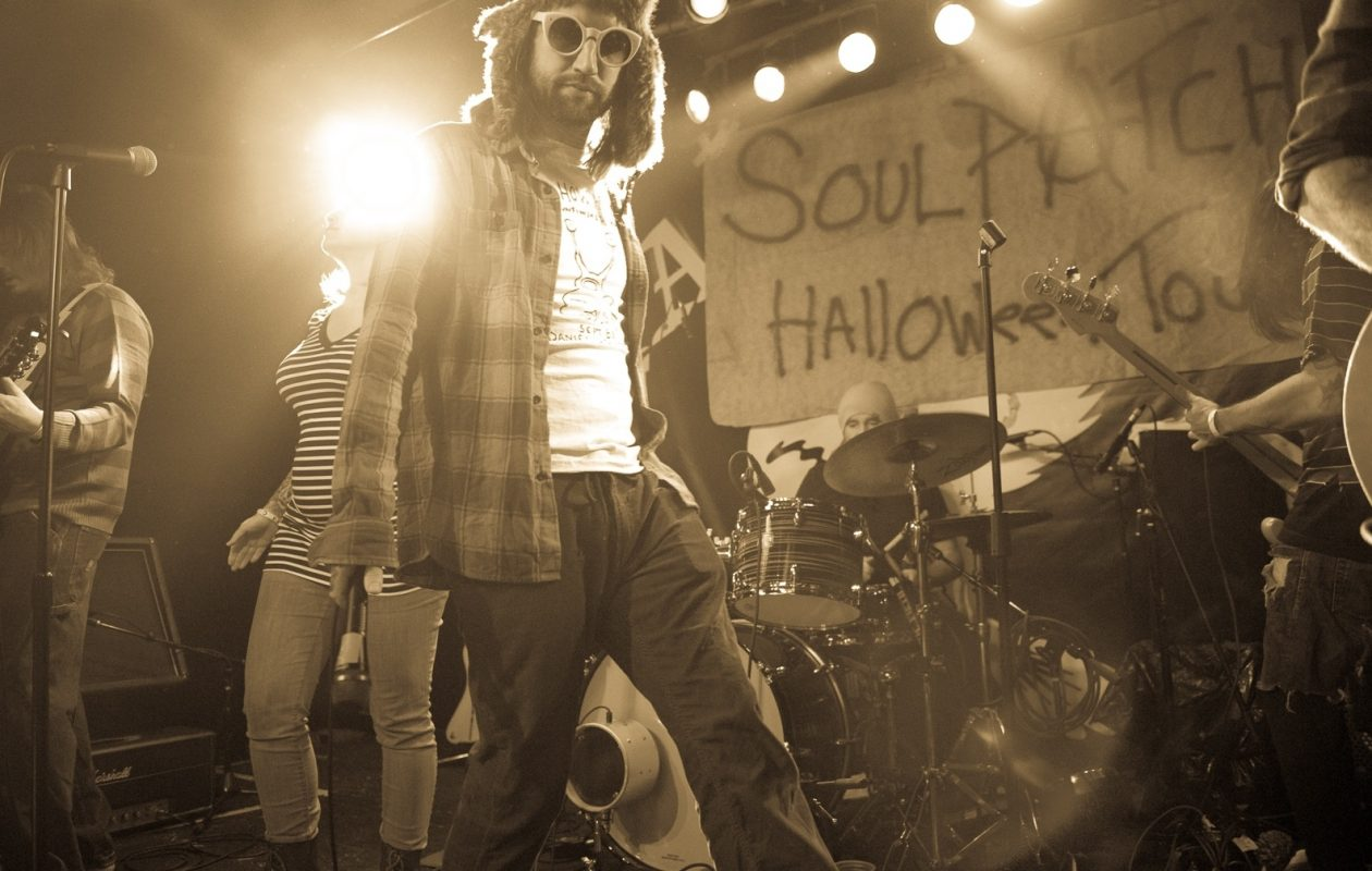 Keith Buckley, foreground, is the lead singer of Soul Patch, which plays the Tralf this weekend. (Matt Weinberg/Special to The News)