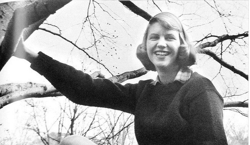 Sylvia Plath in 1954,