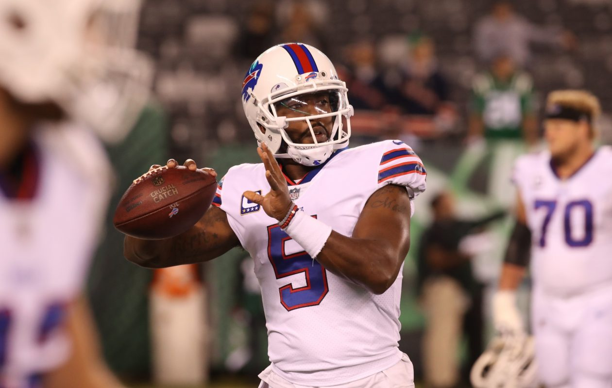 Even if the Buffalo Bills bring Tyrod Taylor back, they could still be in the market for a quarterback early in the 2018 draft. (James P. McCoy/Buffalo News)