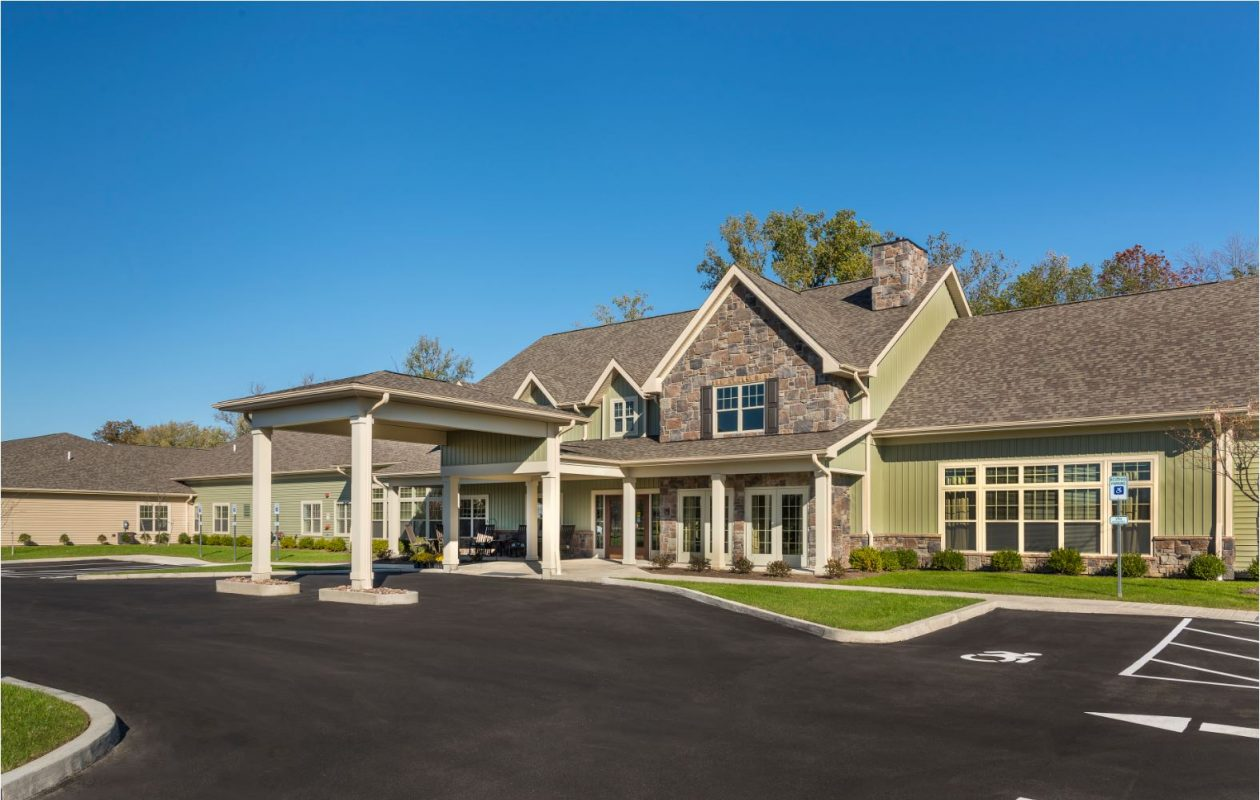 Exterior view of Wheatfield Commons assisted living and memory care facility. (Courtesy DePaul)