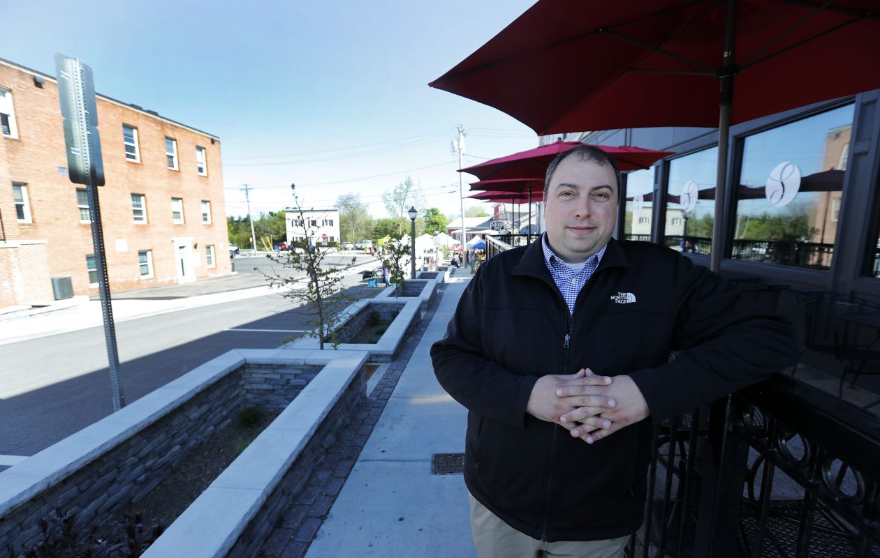 Brian Kulpa led the Village of Williamsville as mayor when Spring Street received a makeover, including rain gardens to capture and filter polluted stormwater. (Mark Mulville/Buffalo News)