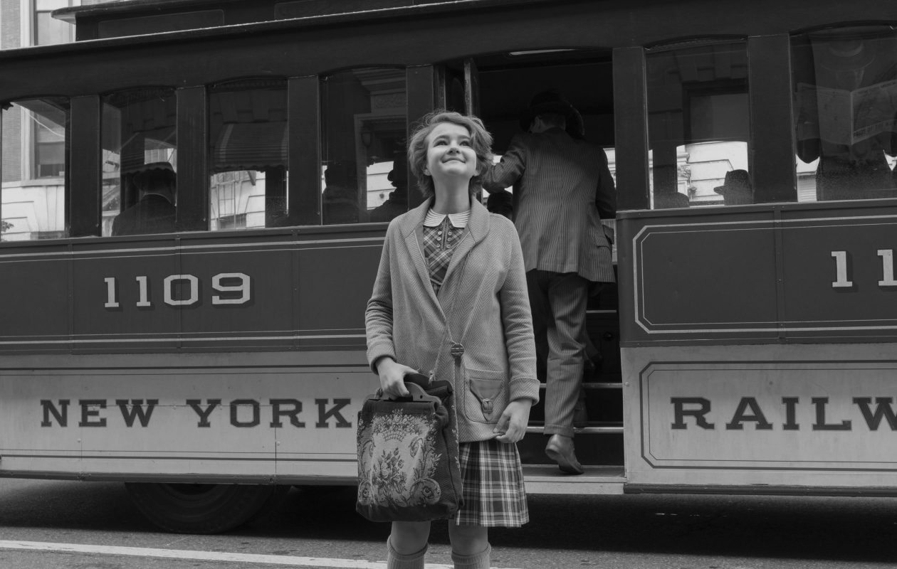 "The adorable Millicent Simmonds stars in ""Wonderstruck,"" a film shot both in black and white and color. (Myles Aronowitz/Courtesy of Amazon Studios and Roadside Attractions)"