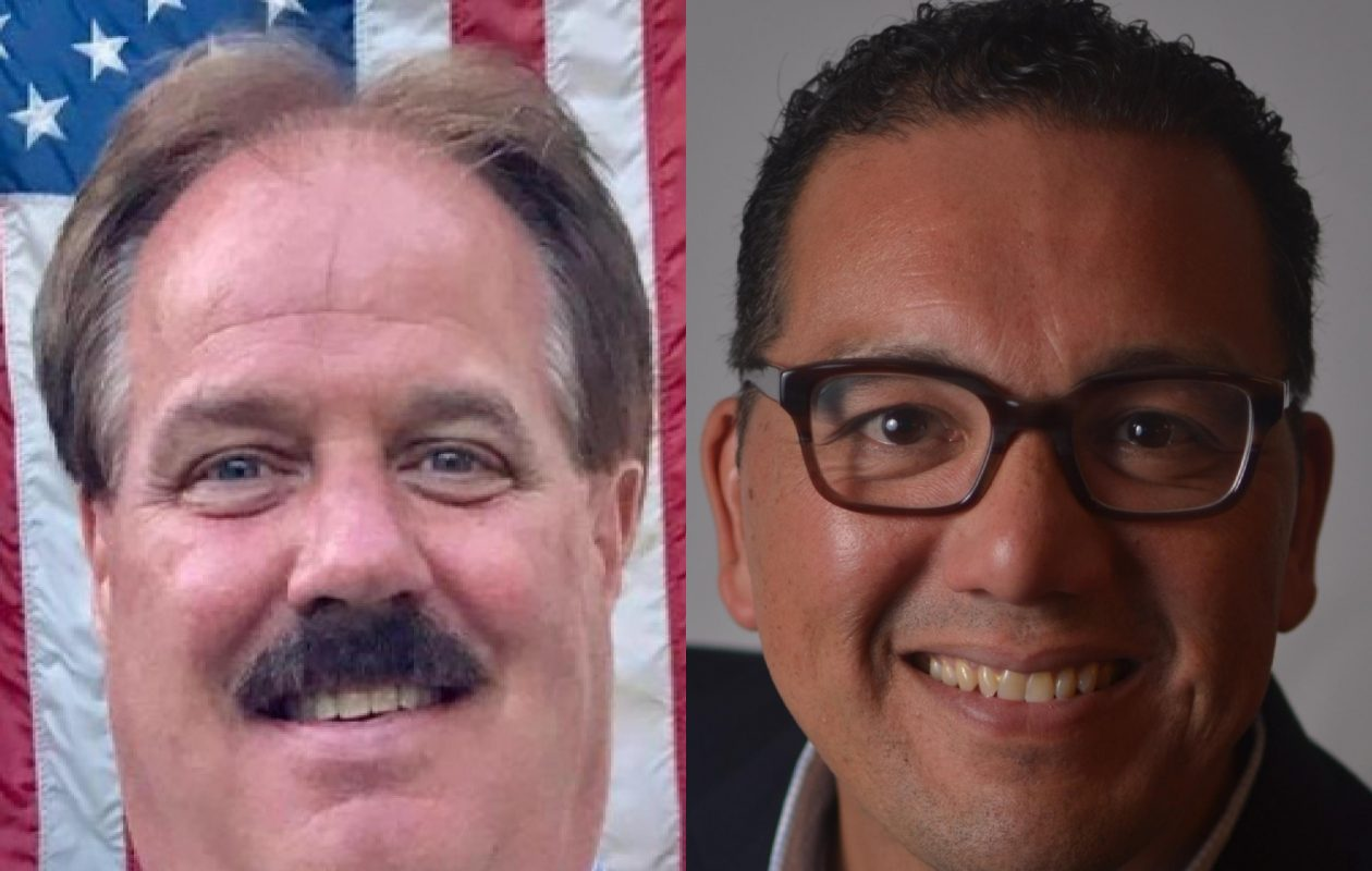 Republican Michael R. Young, left, was clinging to an 8-vote lead over Democratic Councilmember Sean Rautenstrauch in the race for the Third Ward City of Tonawanda Common Council on Nov. 8, 2017.