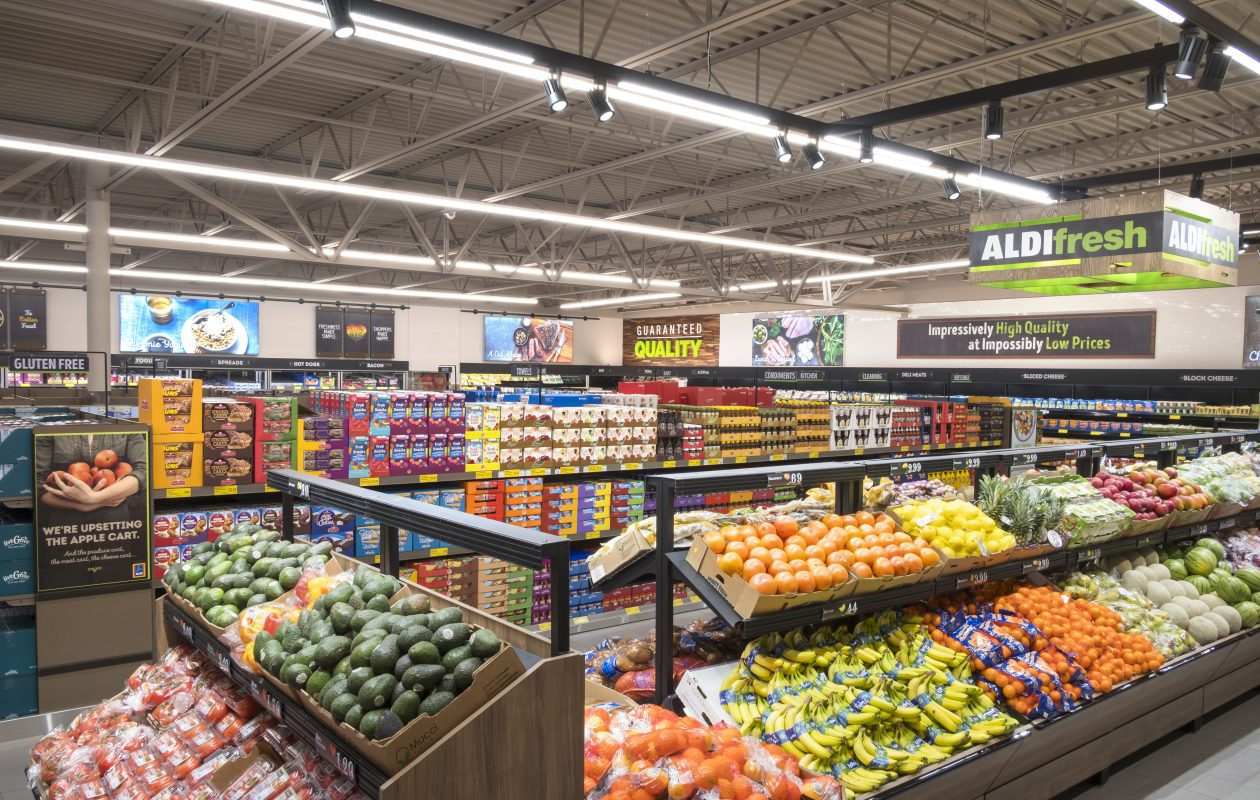 Aldi's latest store concept focuses on frresh and organic products. (Contributed photo)