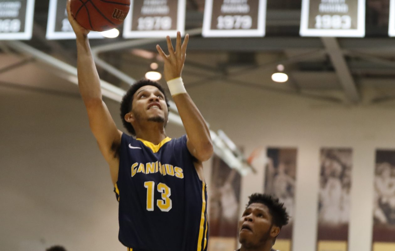 Canisius Isaiah Reese shoots against St. Bonaventure during first half action at the Reilly Center on Thursday, Dec. 22, 2016. (Harry Scull Jr./Buffalo News)