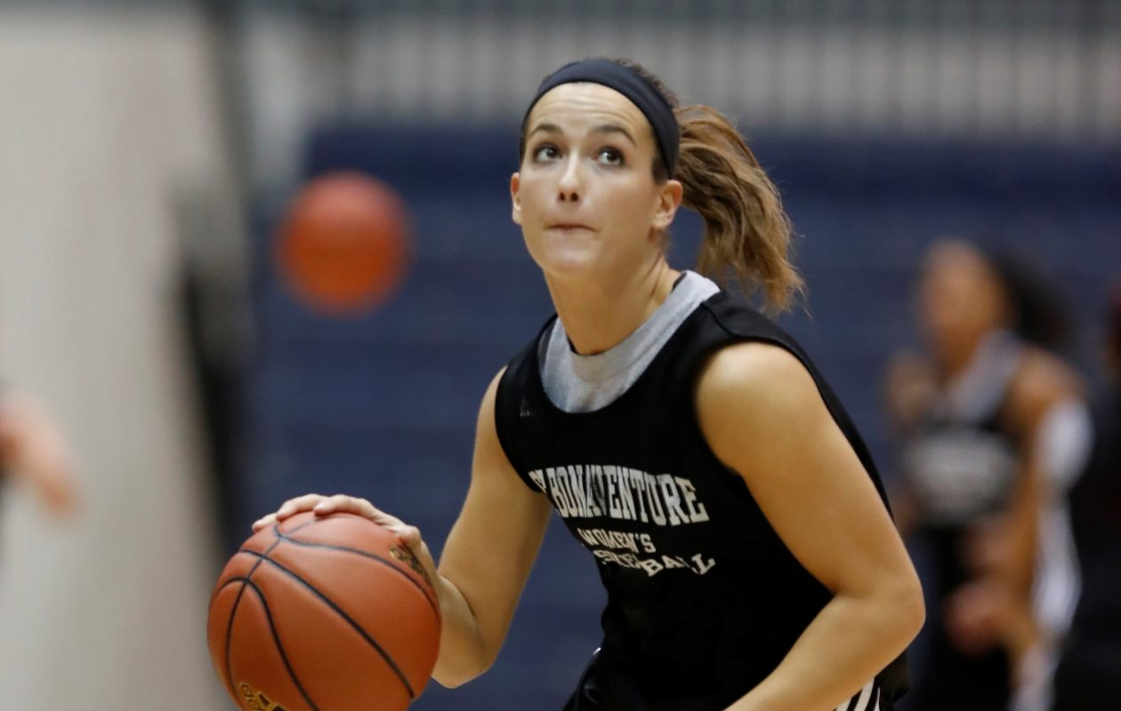 St. Bonaventure's Mckenna Maycock tied her career high in last week's win over Penn State. (Harry Scull Jr./Buffalo News)