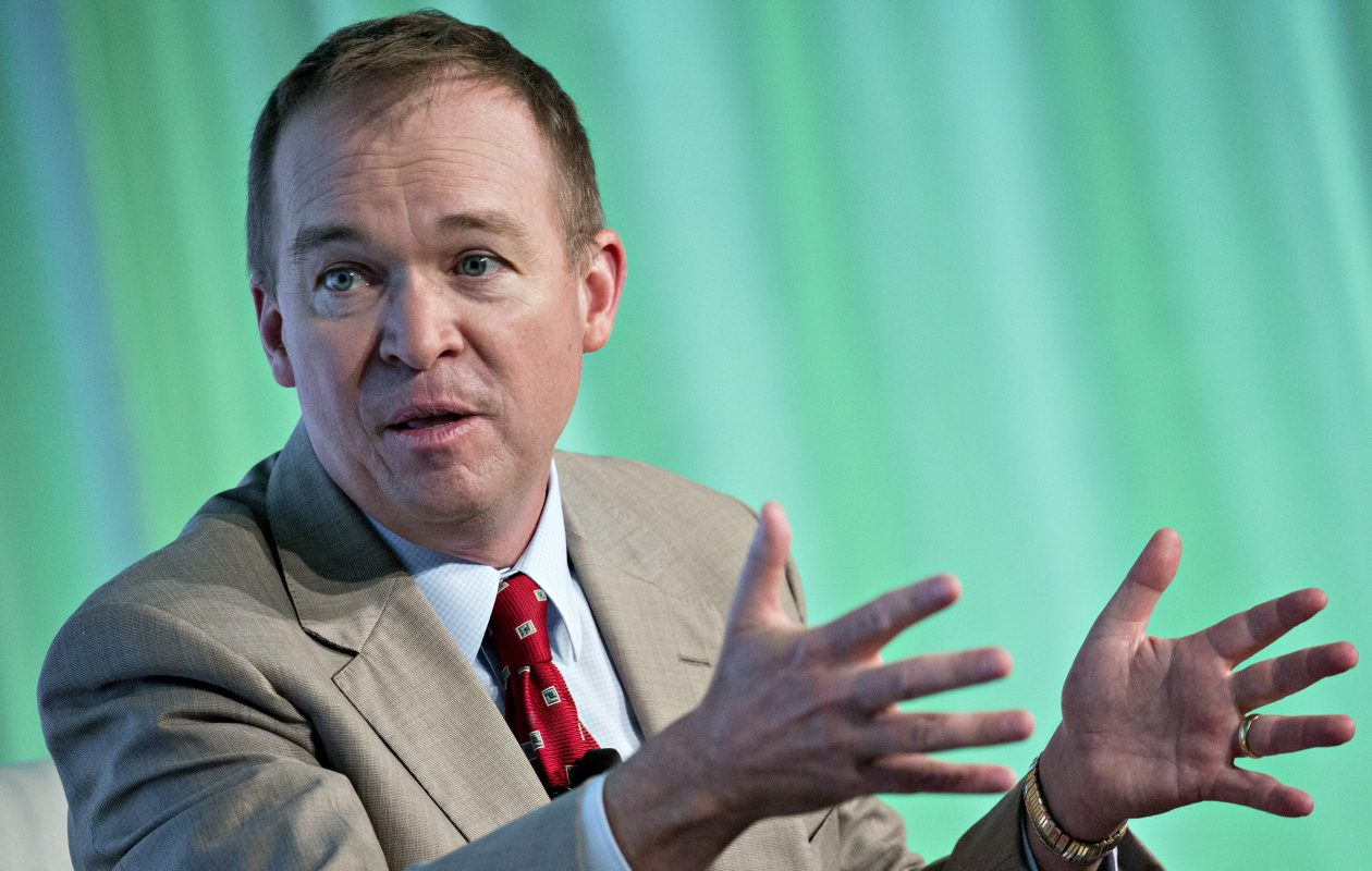 President Trump picked White House budget director Mick Mulvaney as acting director of the Consumer Financial Protection Bureau. (Bloomberg photo by Andrew Harrer)