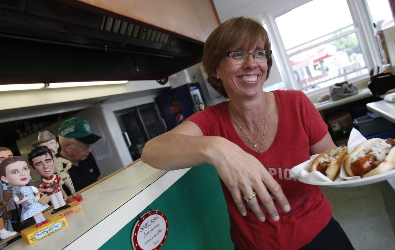 Reid's, a hotdog, burger and ice-cream stand on Elmwood Ave. in the Town of Tonawanda has been operating at that location for 48 years.  Owners Art and Diane Kirchberger have decided that's enough. (Sharon Cantillon/Buffalo News)