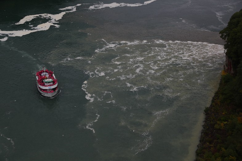 The Niagara Falls Water Board budget for attorneys' fees is nearly tripling, which one board member attributes to having to deal with the black, gunky discharges this year that shocked both residents and tourists and garnered unwanted international attention.  (John Hickey/Buffalo News file photo)