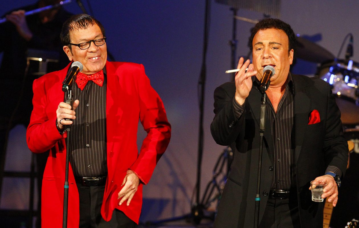 Joey Scinta as Jerry Lewis and Frankie Scinta as Dean Martin perform in 2012.    (John Hickey/News file photo)