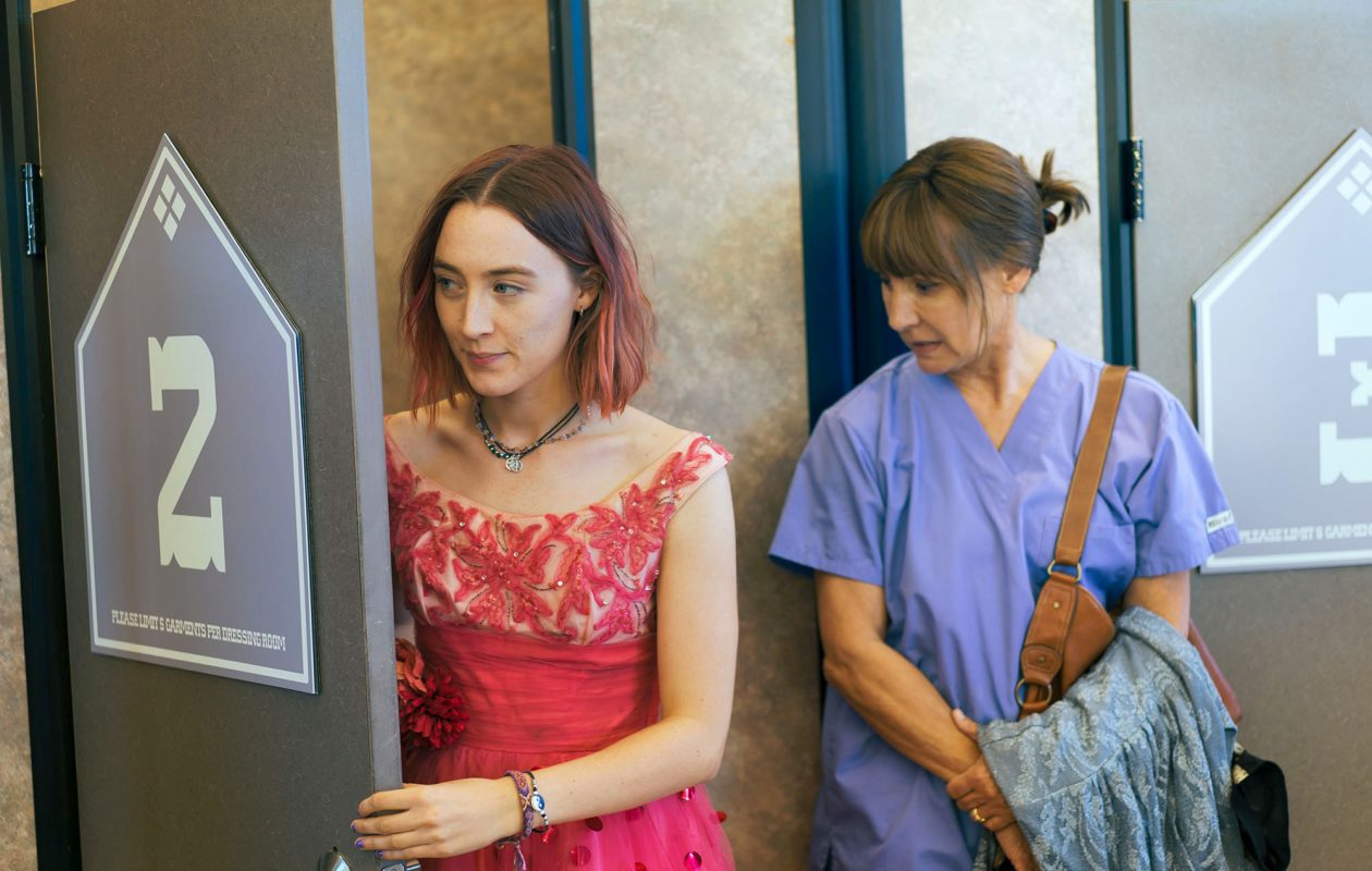 """Saoirse Ronan, left, and Laurie Metcalf star in """"Lady Bird."""" (Merie Wallace, A24)"""