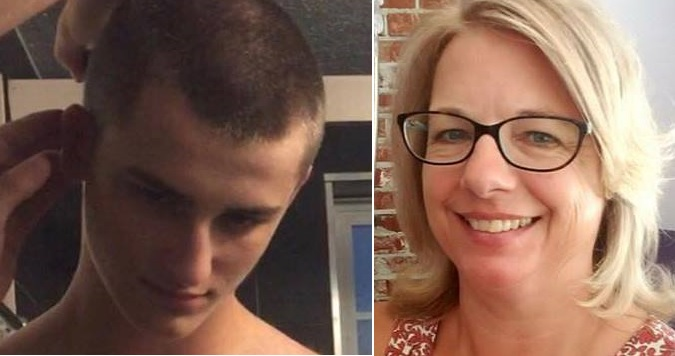 Logan Mott, left, was wanted in connection with the death in Florida of his grandmother, Kristina French, right. (Provided by the Jacksonville Sheriff's Office)