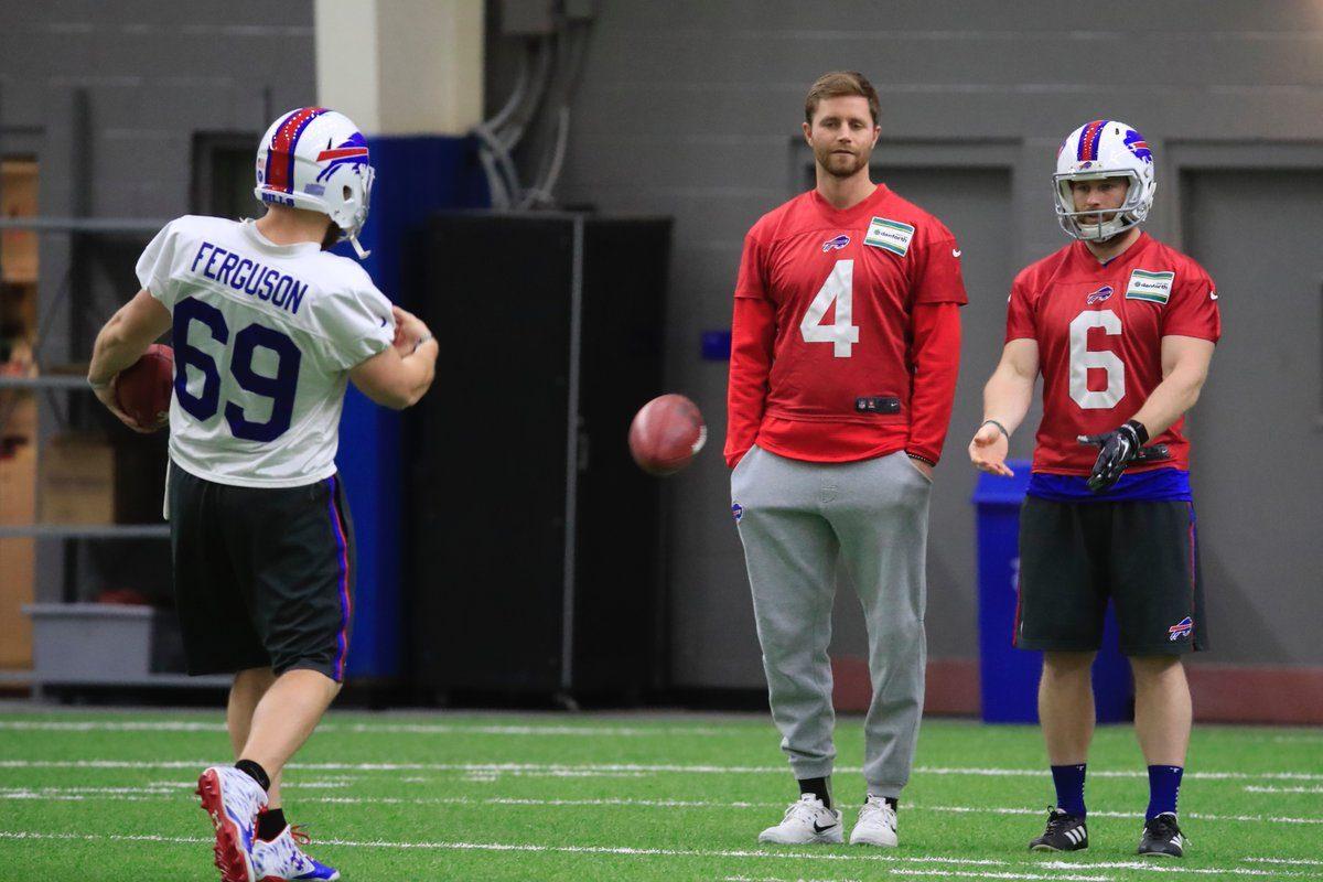 Stephen Huascka (4) watches Bills practice Friday (Photo: Harry Scull Jr./Buffalo News)