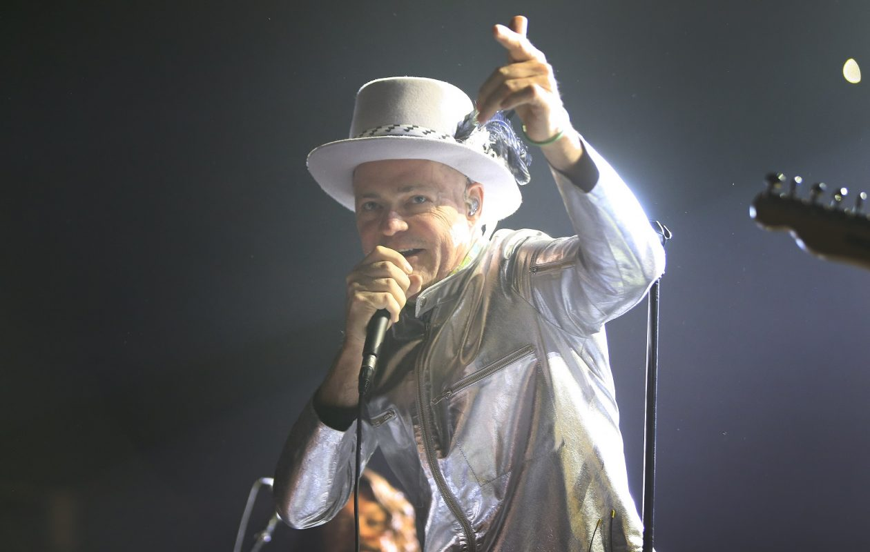 Gord Downie of The Tragically Hip performs at the FirstOntario Centre in Hamilton, Canada on Aug. 16, 2016. (Harry Scull Jr./Buffalo News)