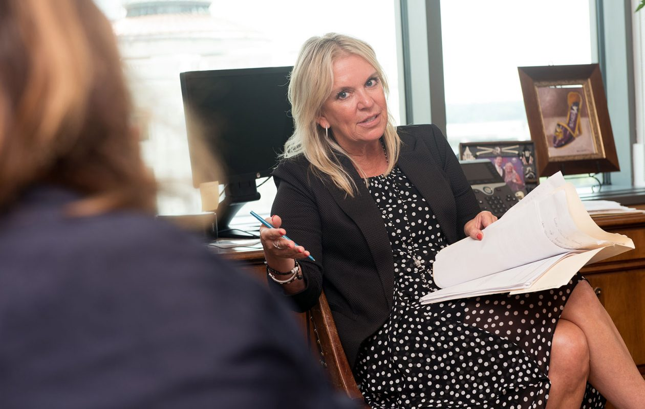 Karin Housley, a Republican state Senator in Minnesota and wife of Buffalo Sabres coach Phil Housley, has announced her intention to run for the U.S. Senate seat being vacated by Democrat Al Franken. (Photo by Angela Jimenez for the Buffalo News)