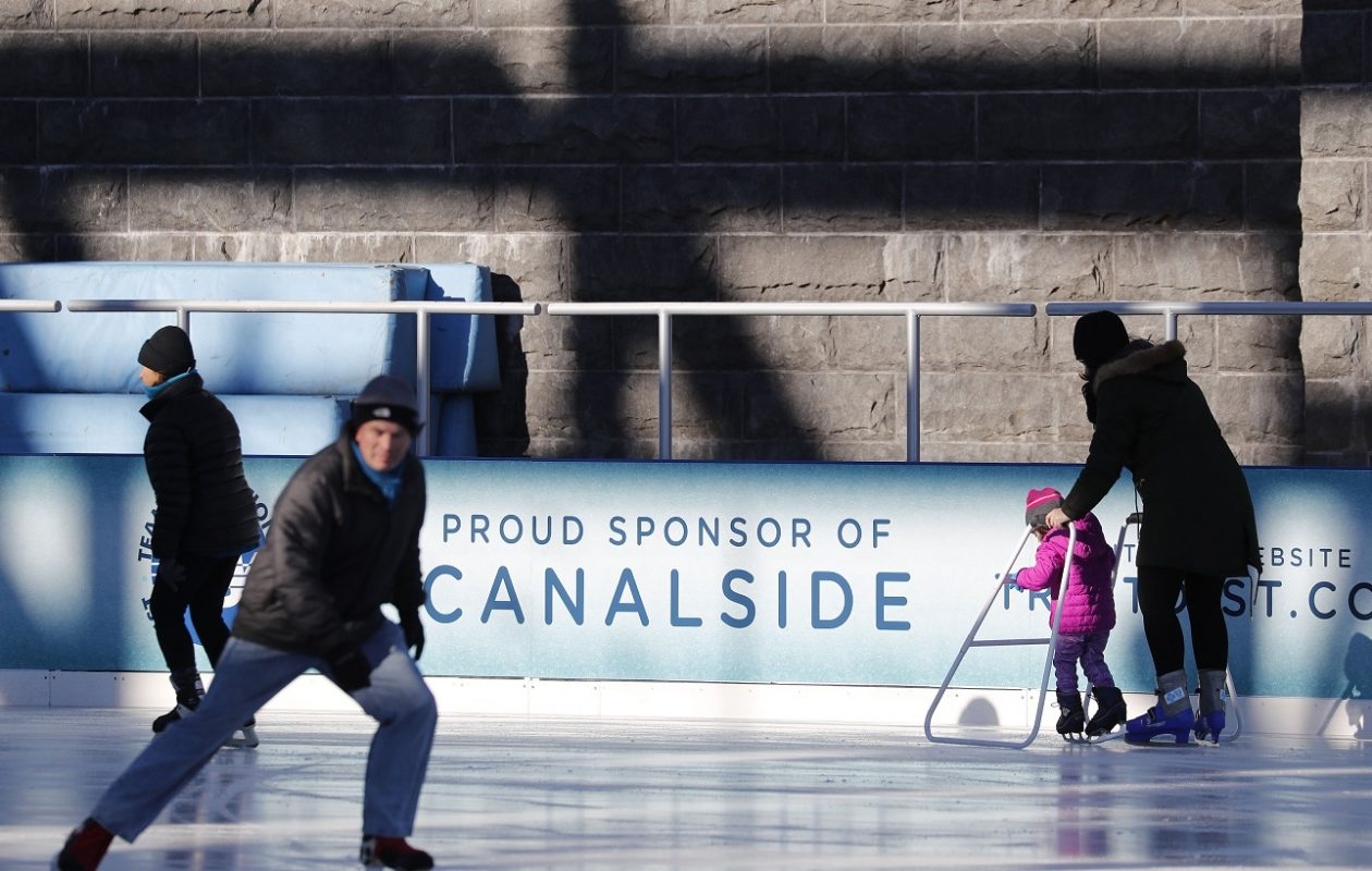 The Ice at Canalside has public skating hours on most winter days, weather permitting. (Mark Mulville/News file photo)