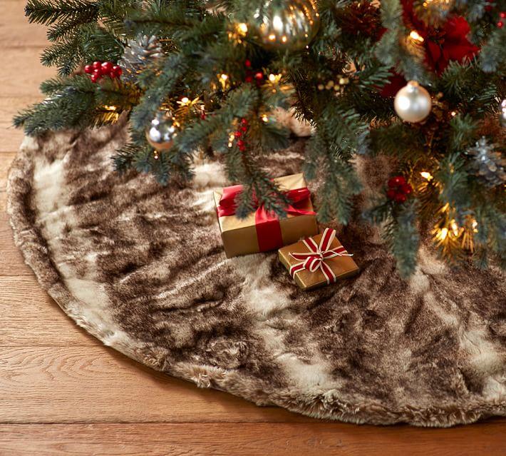 Faux fur tree skirt from Pottery Barn, potterybarn.com. (Photo courtesy potterybarn.com)