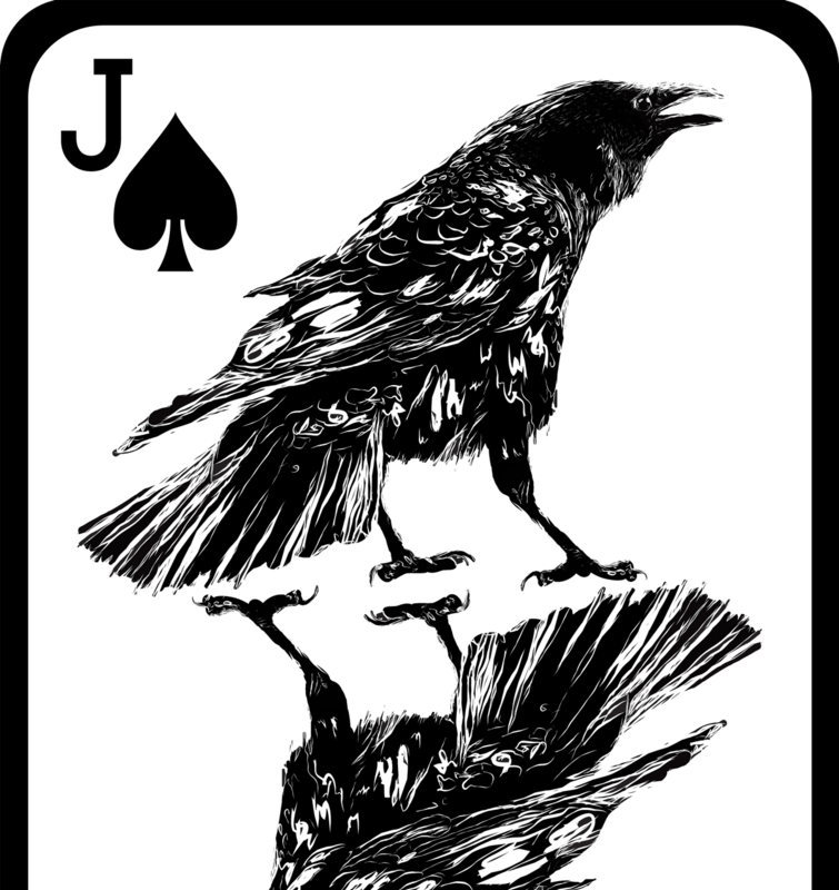 Crow playing card by JackSephton
