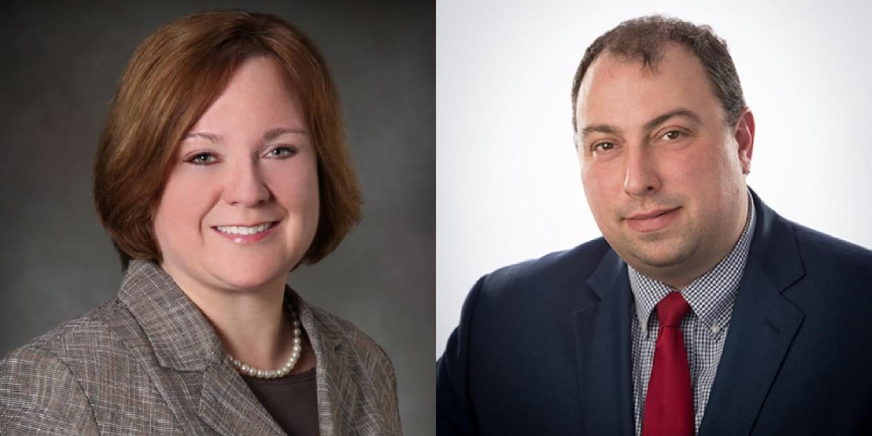 Town Clerk Marjory H. Jaeger, left, and Williamsville Mayor Brian J. Kulpa are candidates for Amherst town supervisor.