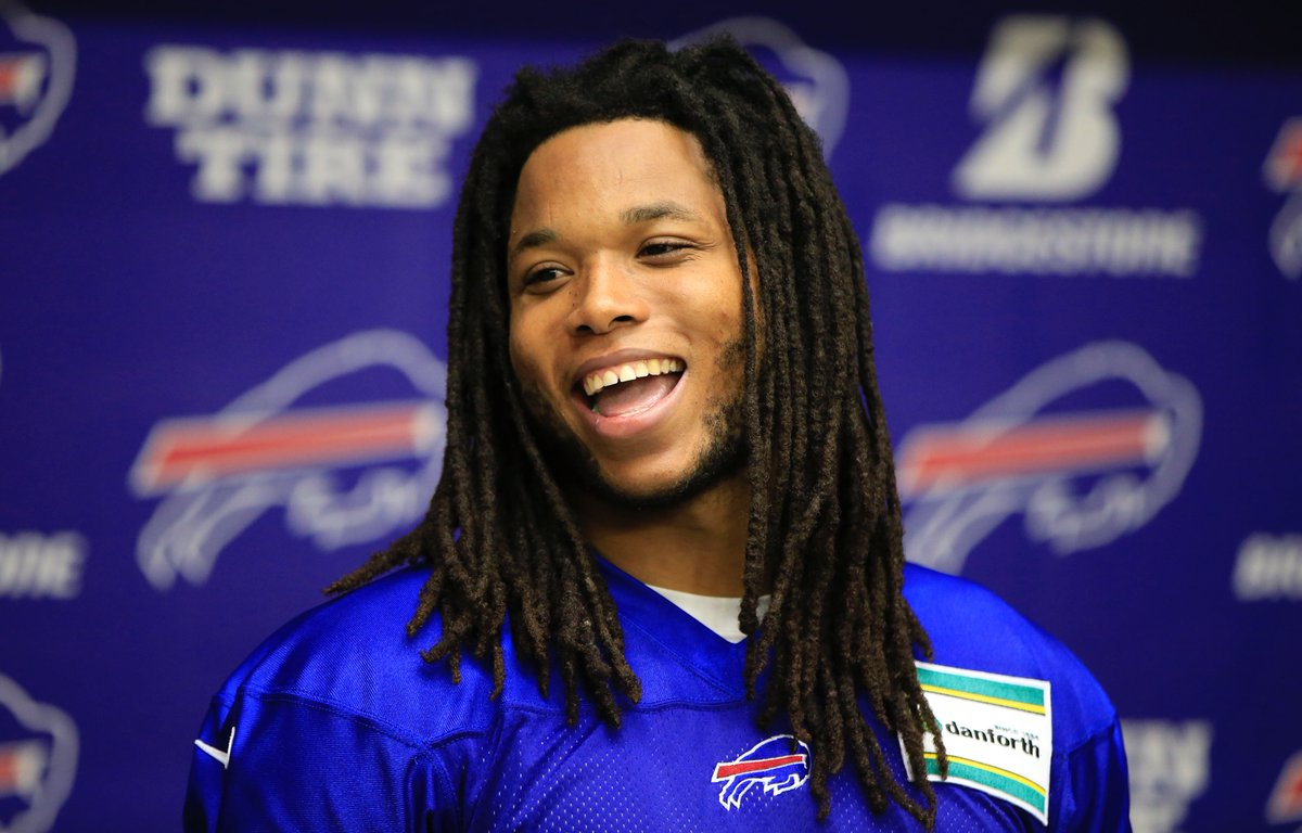 New Bills wide receiver Kelvin Benjamin meets the media (Harry Scull Jr./Buffalo News)