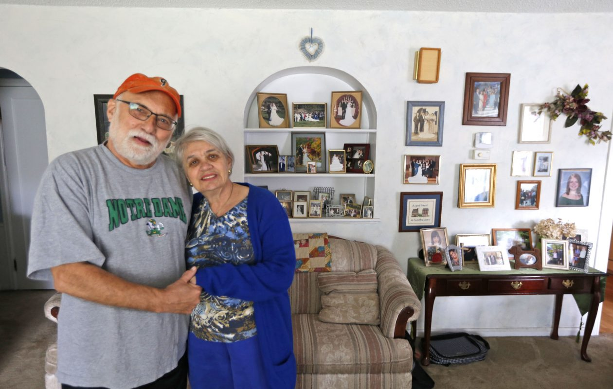 Linda and Stephen Lisicki, of Williamsville, have been married 52 years and are facing Linda's cognitive condition together. (Robert Kirkham/Buffalo News)