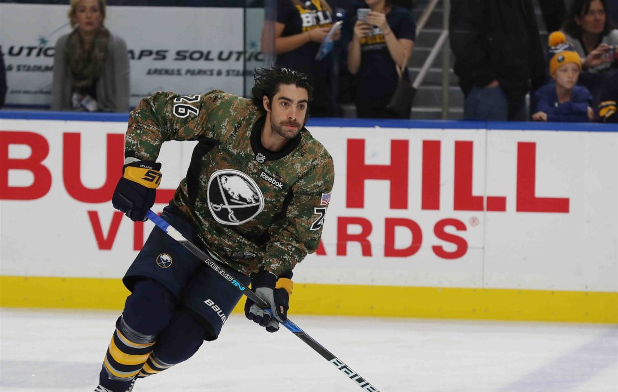 Matt Moulson, shown during last season's Military Appreciation Night, gives away free seats to every game through the Tickets for Troops program. (James P. McCoy/News file photo)
