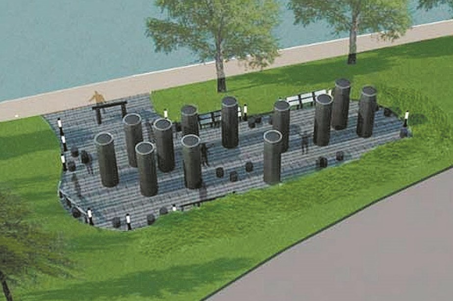 Rendering shows the planned memorial to African-American veterans.