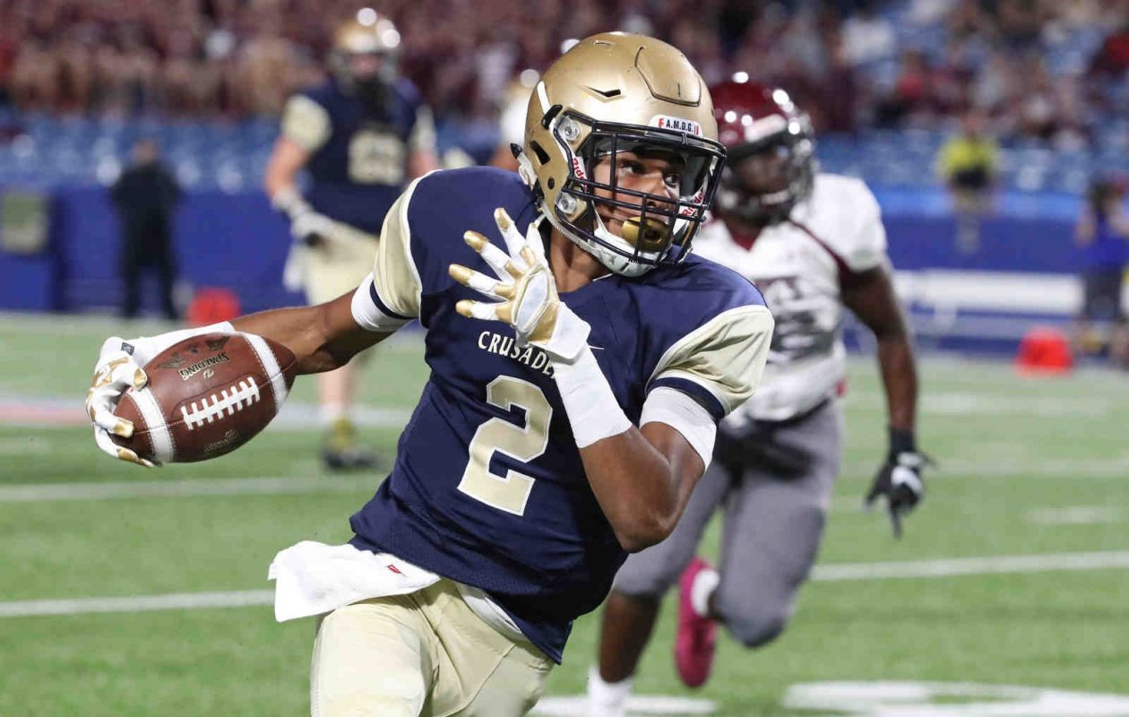 Paul Woods had a three-touchdown performance in last year's state Catholic final for Canisius. (James P. McCoy/Buffalo News)