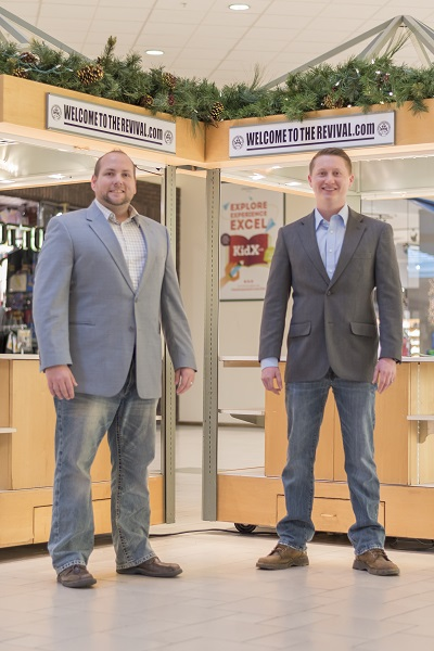 , Justin Thorp and Brent Morris will open a Christian apparel store to the Chautauqua Mall. (Contributed photo)