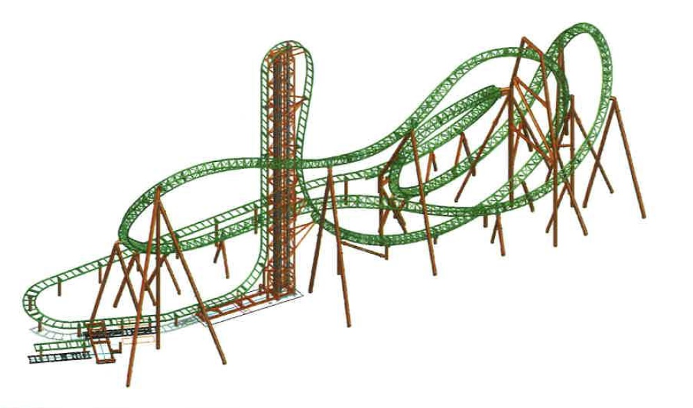 Darien Lake says its new roller coaster, Tantrum, will begin operating in May 2018.  (Image taken from Darien Lake's application to Genesee County Planning Board)