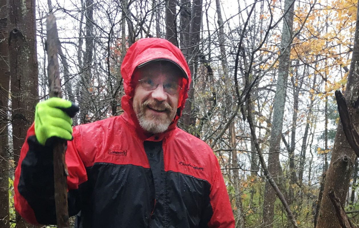 Thomas Heath, 58, on a walk in Griffis Sculpture Park in Cattaraugus County two weeks ago. Heath was killed Friday, Nov. 17, in a home on West Ferry Street in Buffalo. (Photo courtesy Yonina Andrea Foster)