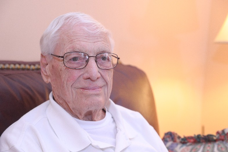 Mechanical problems and a collision with another ship sidelined Robert J. Mischel during some of the action in World War II, but his ship just missed taking a direct hit while delivering troops to Manila. (John Hickey/Buffalo News)