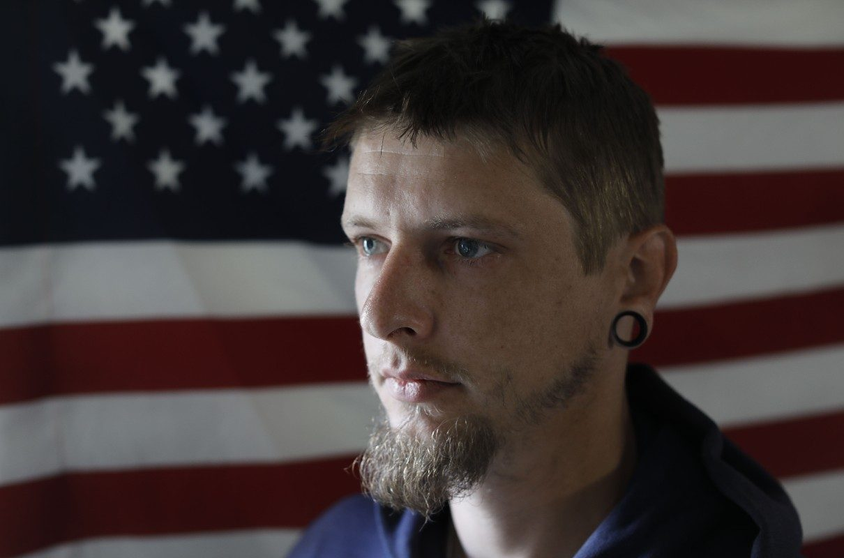 A month after arriving in Iraq, Marine David M. Dehler was a few hundred yards away when an IED took the life of a fellow platoon member. After that and other horrors of war, he was diagnosed with PTSD. (Derek Gee/Buffalo News)